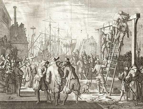 Bouwmeester Pacheo van de hertog van Alva krijgt de strop in Vlissingen