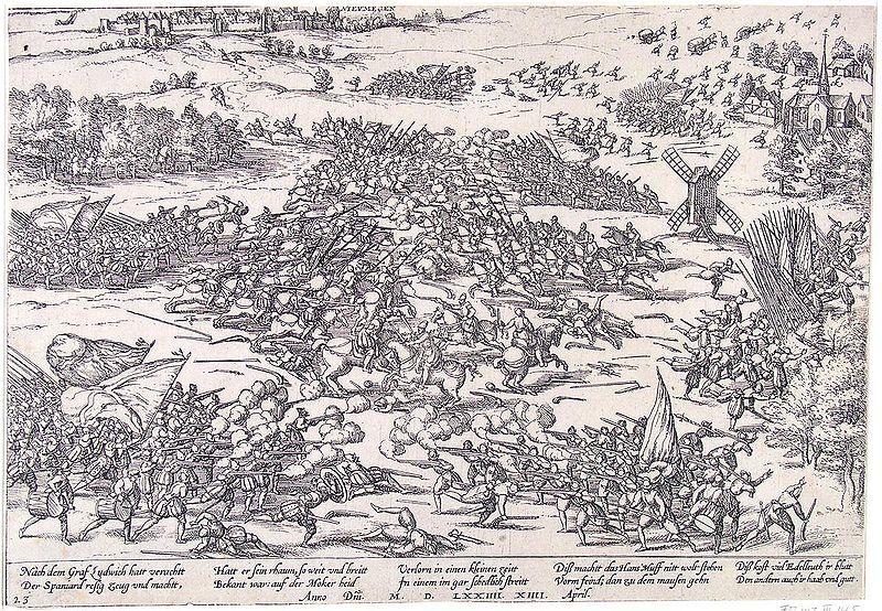 Twee broers van Willem van Oranje sneuvelen in de slag op de Mookerhei