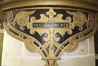 Blazoen van Clara van Sparwoude in Oude Kerk van Delft