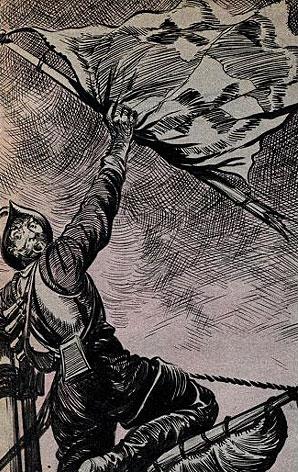 Jan Haring klimt in de Inquisitie en haalt de vlag naar beneden