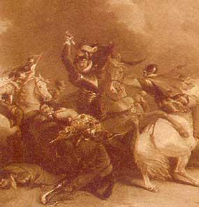 Sir William Russell vecht in de slag bij Zutphen waar Sydney de dood vindt