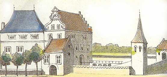 Huis Hengelo zoals het vermoedelijk was